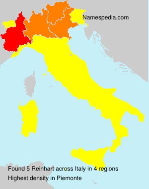 Familiennamen Reinhart - Italy