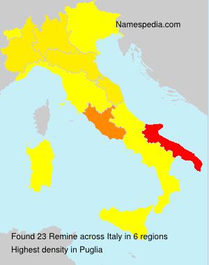 Familiennamen Remine - Italy