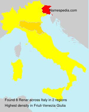 Familiennamen Renar - Italy