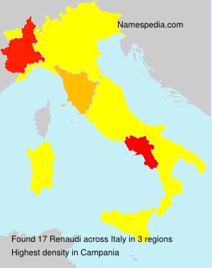 Surname Renaudi in Italy