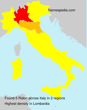 Surname Ridon in Italy