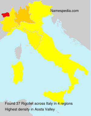Familiennamen Rigollet - Italy