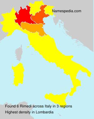 Surname Rimedi in Italy