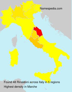 Surname Rinaldoni in Italy