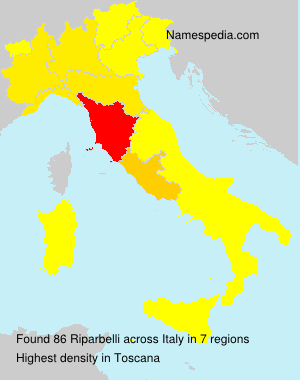 Surname Riparbelli in Italy