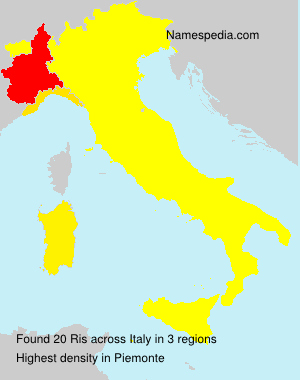 Surname Ris in Italy