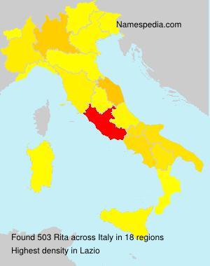 Surname Rita in Italy