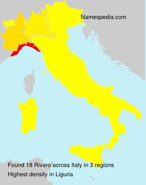 Surname Rivaro in Italy
