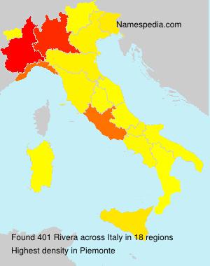 Familiennamen Rivera - Italy