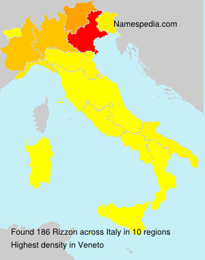 Surname Rizzon in Italy