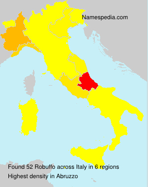 Surname Robuffo in Italy