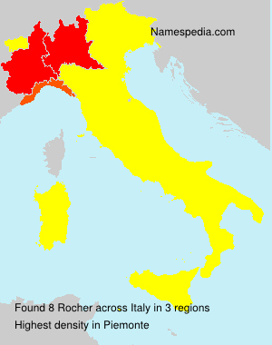 Surname Rocher in Italy