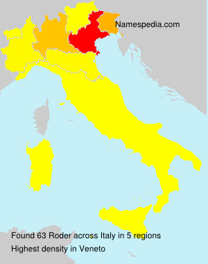 Surname Roder in Italy