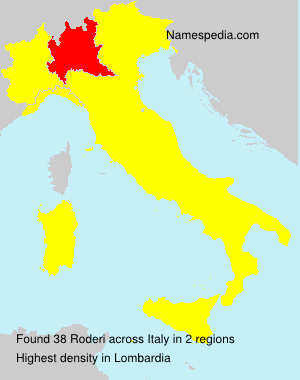 Surname Roderi in Italy