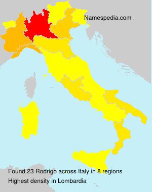 Surname Rodrigo in Italy
