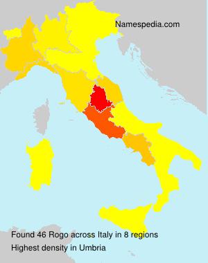 Surname Rogo in Italy