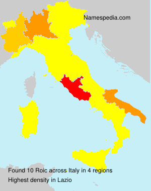 Surname Roic in Italy