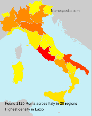 Surname Roma in Italy