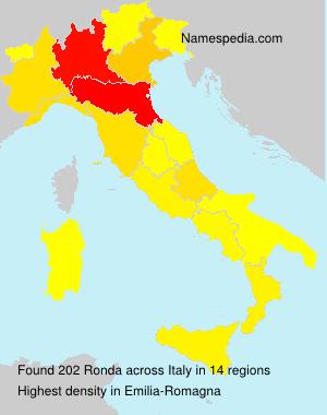 Surname Ronda in Italy