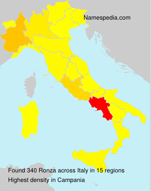 Surname Ronza in Italy