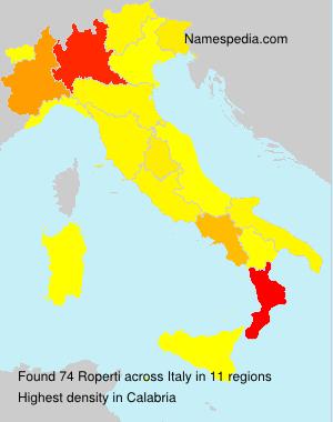 Surname Roperti in Italy