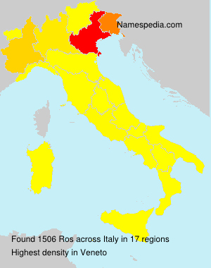 Surname Ros in Italy