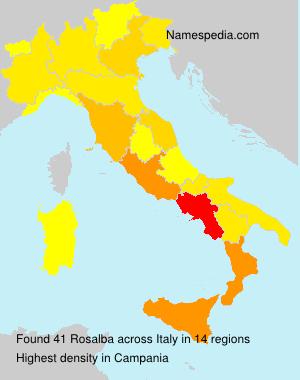Surname Rosalba in Italy