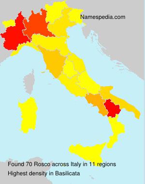 Surname Rosco in Italy