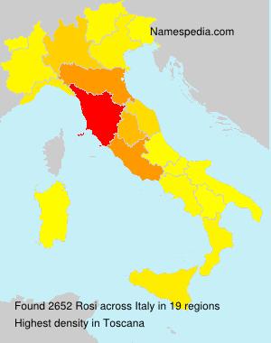 Surname Rosi in Italy