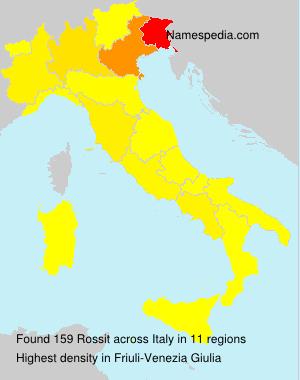 Familiennamen Rossit - Italy