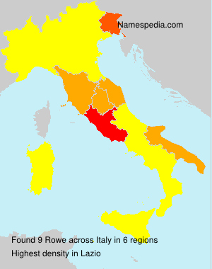 Surname Rowe in Italy