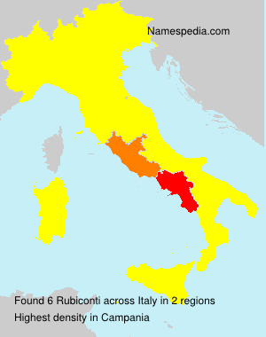 Surname Rubiconti in Italy