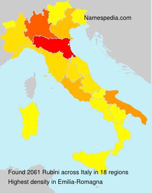 Surname Rubini in Italy