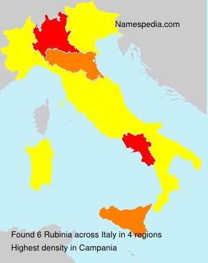 Surname Rubinia in Italy
