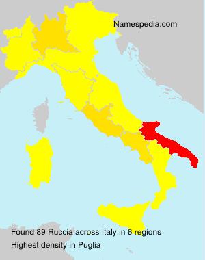 Familiennamen Ruccia - Italy