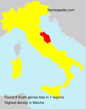Surname Ruelli in Italy