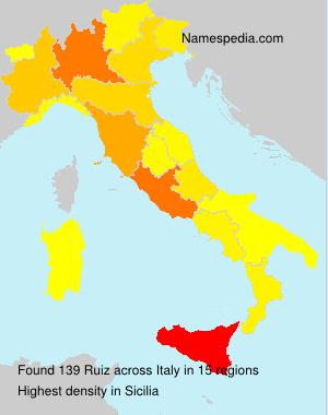 Surname Ruiz in Italy