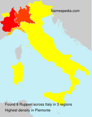 Surname Ruppen in Italy