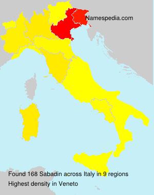Familiennamen Sabadin - Italy