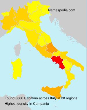 Familiennamen Sabatino - Italy