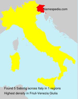 Surname Sabotig in Italy