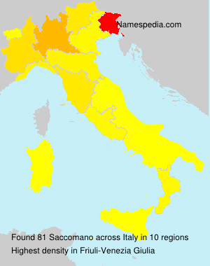 Surname Saccomano in Italy