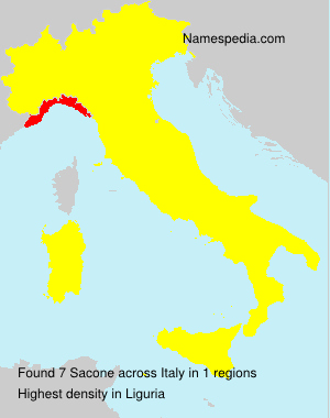 Surname Sacone in Italy