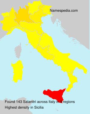 Surname Salanitri in Italy