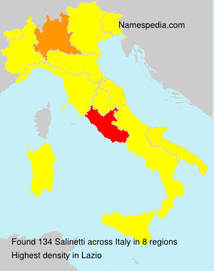 Surname Salinetti in Italy