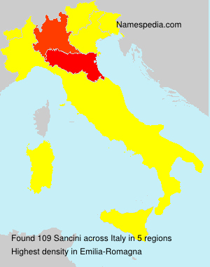 Surname Sancini in Italy