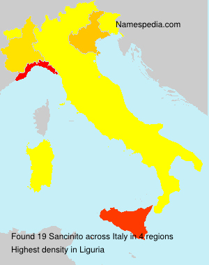 Surname Sancinito in Italy