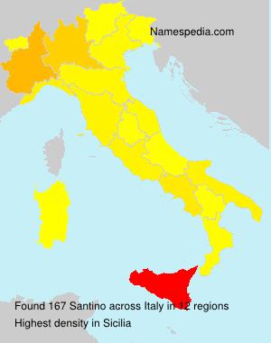 Familiennamen Santino - Italy