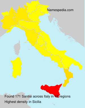 Surname Santisi in Italy