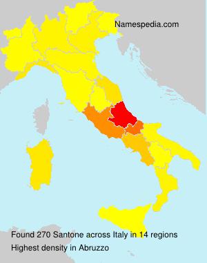 Surname Santone in Italy
